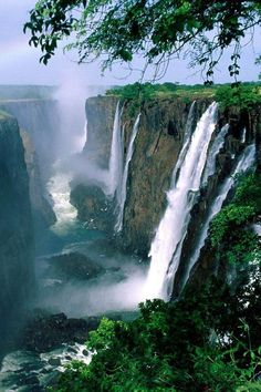 Victoria Falls, Zimbabwe, Africa A place to visit. If your visiting victoria falls, i suggest you land in Vic Falls airport and stay in Zambia. Cool Places To Visit, Places To Travel, Places To Go, Beautiful Waterfalls, Beautiful Landscapes, Chobe National Park, Victoria Falls, Visit Victoria, Africa Travel