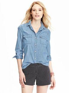 Women's Classic Chambray Shirt Product Image