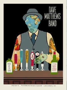 Dave Matthews Band Riverbend Poster 2012 Cincinnati - I was there!