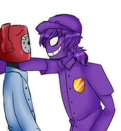 Purple guy and phone guy. RUN PHONE GUY RUN! You can see the fear in his eyes!