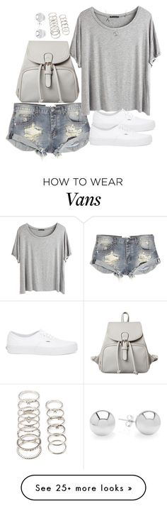 """Untitled #3234"" by natalyasidunova on Polyvore featuring One Teaspoon, Chicnova Fashion, Forever 21 and Vans"