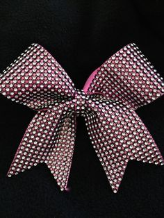 Pink & Black Bling Rhinestone Cheer Bow Party Tyme by Bowfriendz, $12.99