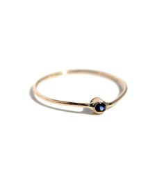 Gold Sapphire Stacking Ring | Jewelry Rings | Lumo | Scoutmob Shoppe | Product Detail
