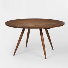 George Nakashima, American Black Walnut Turned-Leg Table, c1960.