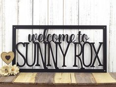 Custom House Welcome Sign  Home Name Metal Sign  Custom Sign