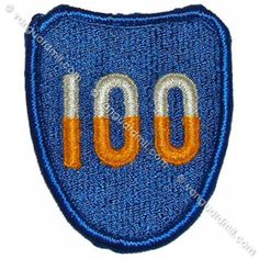 Army Patch: 100th Infantry Training Division - color