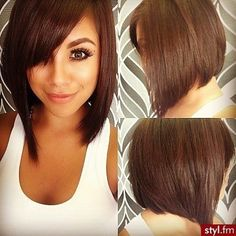 Sleek - 72 Fabulous Ideas for Summer Hair Inspiration ... SourceWhat a pretty color, and what shine! That's a great long-bob for summer, especially with the side-swept bangs.