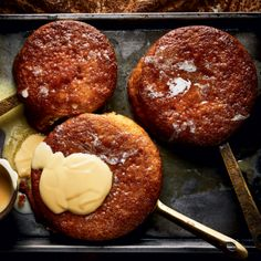 Individual malva puddings
