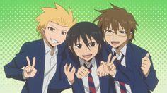 Anime: danshi koukousei no nichijou. Hilário!!! Muito bom.