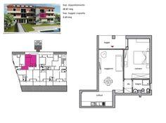 App. 2 - Soggiorno, cucinotto, disimpegno, camera, bagno, loggiato.   Comune di Rio Marina (LI), loc. Cavo, Isola d'Elba, Toscana.