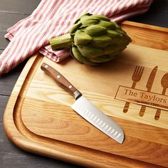 Will make your chopping more fun!! Sugarnest - round wooden cutting board with personalization