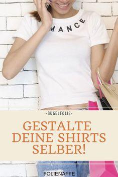 selbstgemacht | einzigartig | bedrucken | Textil |Bügelfolie | Transferfolie | Geschenkidee  #tshirt #geschenk #jga T Shirts For Women, Tops, Fashion, Mocassin Shoes, Shoes Men, Unique, Homemade, Women's, Moda