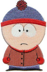 "South Park Comedy Central Cartoon Patch - 3"" Stan Hat Shark http://www.amazon.com/dp/B00144NMUQ/ref=cm_sw_r_pi_dp_0vmKub153X2X3"