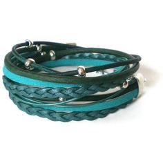 turquoise wrap bracelet leather suede bohemian by jcudesigns, £17.00