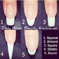 Different Types Of Nail Shapes