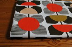 *New* Orla Kiely Square Flower Fabric in Coral 50cm x 50cm FQ