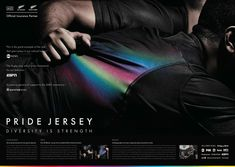 """This is """"Pride Jersey"""" by TBWA Worldwide on Vimeo, the home for high quality videos and the people who love them. Creative Advertising, Advertising Agency, Advertising Design, Cannes Awards, Best Ads, Concept Board, Film Director, Copywriting, Case Study"""