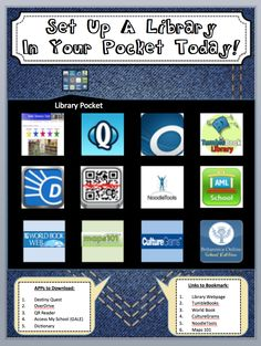 """Learn how to set up your own """"Library in Your Pocket"""" bulletin board!"""