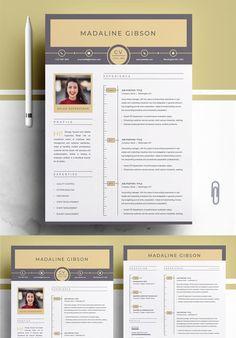 Teacher Resume Template, Modern Resume Template, Creative Resume Templates, Resume Cv, Resume Design, Cover Letter Template, Letter Templates, Chronological Resume Template, Lettering