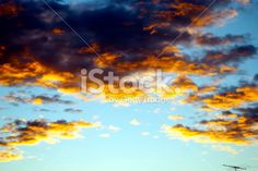 Sunset Sky Background with Ariel Royalty Free Stock Photo