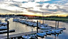 Scituate Maritime Center - Scituate Ma.... protected harbor marina... an original photo graphic by Carol Sutherland