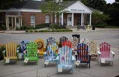 Wauconda Storeowners Use Adirondack Chair Art Project As Downtown Fundraiser