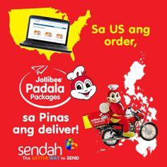 Distance doesn't matter. Even if you're in another country, you can send their favorite langhap-sarap treats through Sendah!  http://www.sendah.com/shopandsend/jollibee-padala-packages/