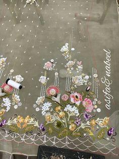 AsifaandNabeel Zardozi Embroidery, Tambour Embroidery, Hand Work Embroidery, Couture Embroidery, Embroidery Suits, Embroidery Fashion, Hand Embroidery Designs, Embroidery Patterns, Ribbon Work