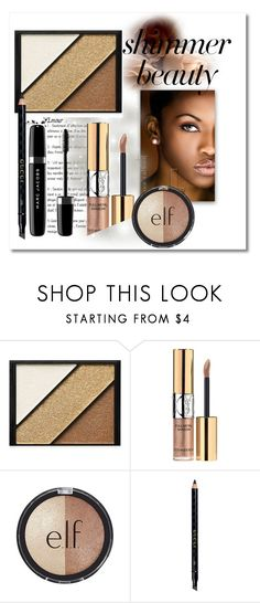 """Shimmer beauty"" by giada2017 on Polyvore featuring bellezza, Elizabeth Arden, Yves Saint Laurent, e.l.f., Gucci e Marc Jacobs"