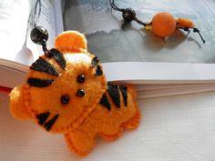 Tiger Felt Bookmark