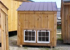 post and beam chicken coop - Google Search