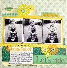 Scrapbook layout idea. Made using silhouette cameo.