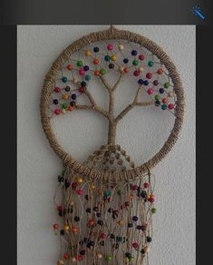 47 trendy tree of life dream catcher diy ideas Doily Dream Catchers, Dream Catcher Craft, Macrame Projects, Crochet Projects, Dreamcatcher Crochet, Dream Catcher Tutorial, Art Perle, Crochet Tree, Diy And Crafts
