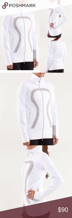 03989fd652b54a LULULEMON White Silver 'In Stride' Define Jacket Size 6 Color; White /  Metallic