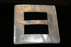 Mother of Pearl Shell belt buckle by GeniceRill on Etsy, $15.00