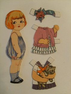 Old Fashioned Cloth Paper Dolls