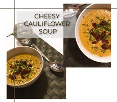 Blomkålsuppe med ost // The very best cheesy cauliflower soup Cheesy Cauliflower Soup, Cheddar Cheese, Ramen, Ethnic Recipes, Food, Cheddar, Meal, Essen, Hoods