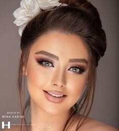 Ways to Master Burgundy Looks for Dates, Prom & Wedding in 2020 (Eyeshadow, Eyeliner, Lipstick & More) - Burgundy Colors Soft Bridal Makeup, Dramatic Wedding Makeup, Natural Prom Makeup, Wedding Hair And Makeup, Makeup For Burgundy Dress, Burgundy Hair, Dress Makeup, Hair Makeup, Round Face Makeup