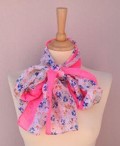 Women Spring scarf ,All season Accessories,Flower printed, romantic, soft fabric,elegant, fashion,april,spring