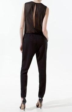 black clothing | Pants: black, clothes, jumpsuit - Wheretoget