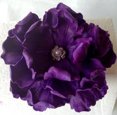 Custom Order Edible Purple Peony Cake Topper by SweetIdeaFlowers on Etsy