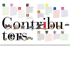 This contributors page is cool because it is really colorful and has lots of cool pictures.