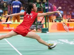 Iris Wang (USA) competes during the women's singles
