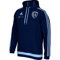 adidas Men's Sporting Kansas City Travel Pullover Hoodie | DICK'S Sporting Goods