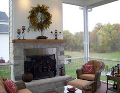 Outdoor Rooms with Fireplaces   Gallery   Outdoor Room Features   Wood Burning Fireplace in ...