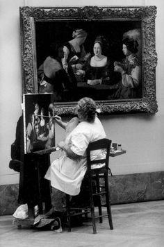 PARIS—A fine arts student at the Louvre, 1974. © Jean Gaumy / Magnum Photos