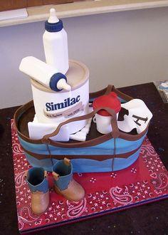 western / cowboy baby shower cake by Sugar Creations -- Uniontown, Kansas