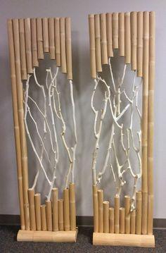 Diy Bamboo Wall Decor Ideas Will Make Your Home More Eco Friendly - Diy Bamboo, Bamboo Art, Bamboo Crafts, Bamboo Fence, Bamboo Ideas, Bamboo Light, Wood Crafts, Bamboo Architecture, Bamboo House