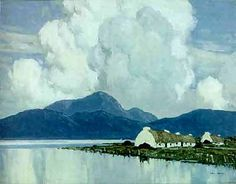 """Paul Henry was an Irish artist noted for depicting the West of Ireland landscape in a spare post-impressionist style. Paul Henry was born in Belfast, Ireland, the son of a Baptist minister. (Wikipedia) (""""Connemara"""" by Paul Henry) Irish Landscape, Landscape Art, Landscape Paintings, Ireland Pictures, Images Of Ireland, Irish Painters, West Coast Of Ireland, Irish Art, Connemara"""