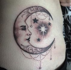forty eight Magnificent Moon Tattoo Designs & Concepts - TattooBlend. ** Learn more at the photo